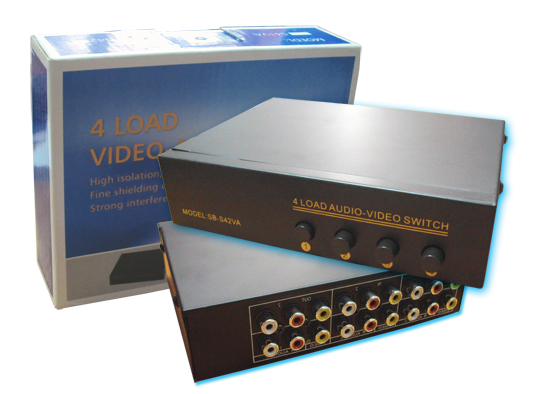 AV SELECTOR IN 4 OUT (VIDEO-AUDIO) ราคา 350 บาท